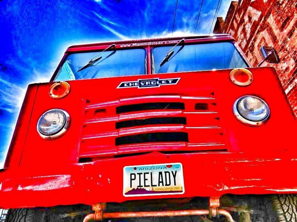 """Artistic shot of """"Pie Truck"""" -- front view"""