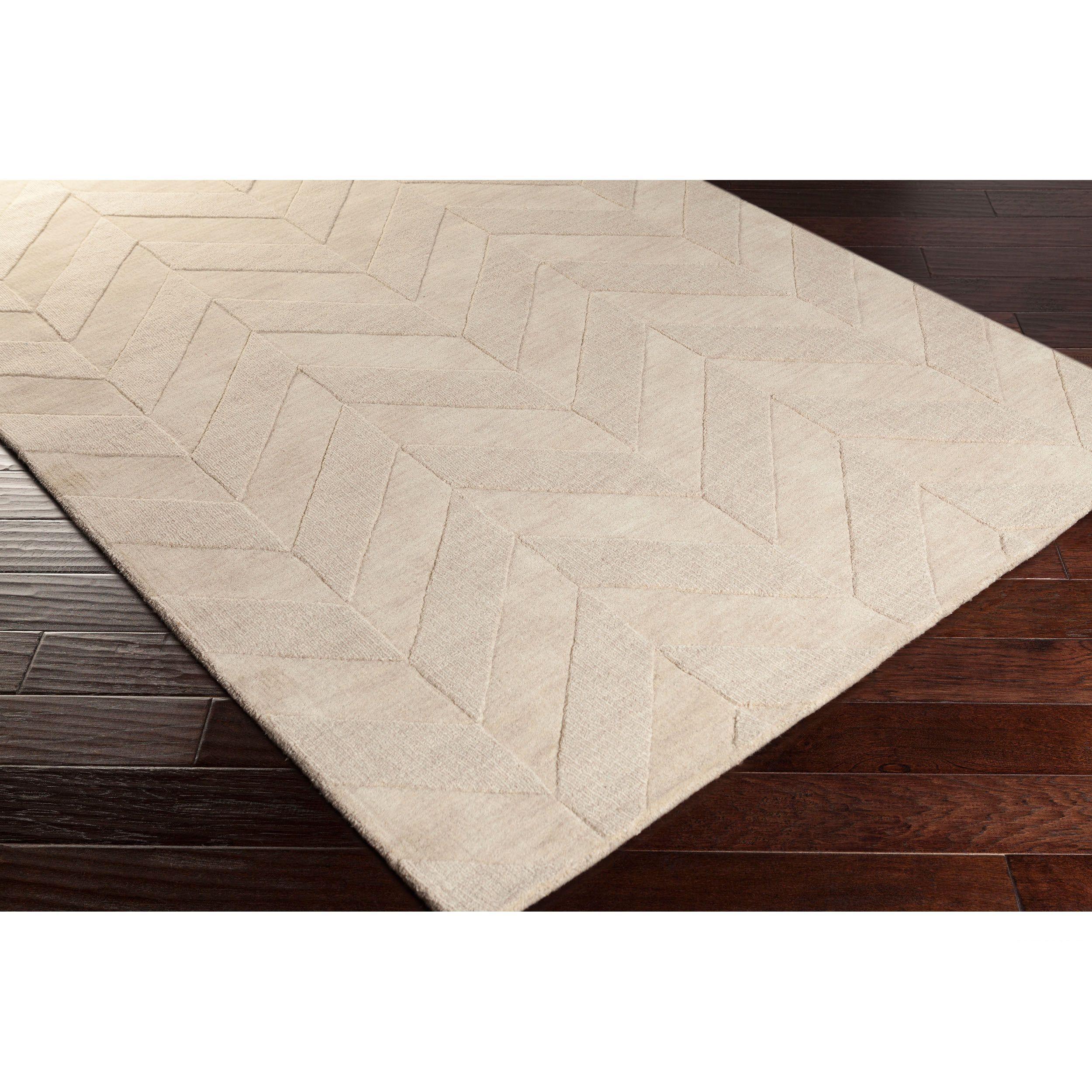 Best Hand Woven Ann Tone On Tone Zig Zag Wool Rug 2 3 X 10 400 x 300
