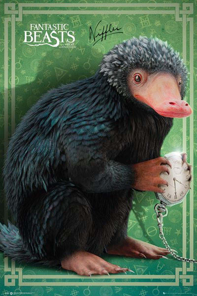 Fantastic Beasts Poster Niffler Fantastische Tierwesen Phantastische Tierwesen The Beast
