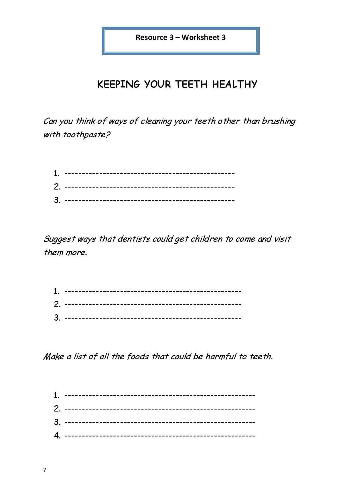 2nd Grade Health Worksheets In