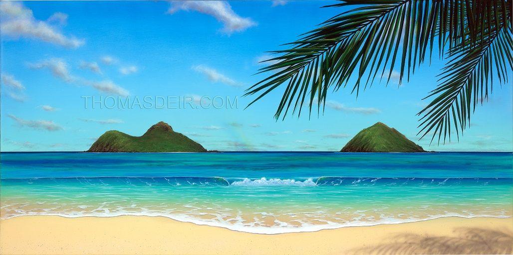 Horizontal Paintings Google Search Land Beach Scene