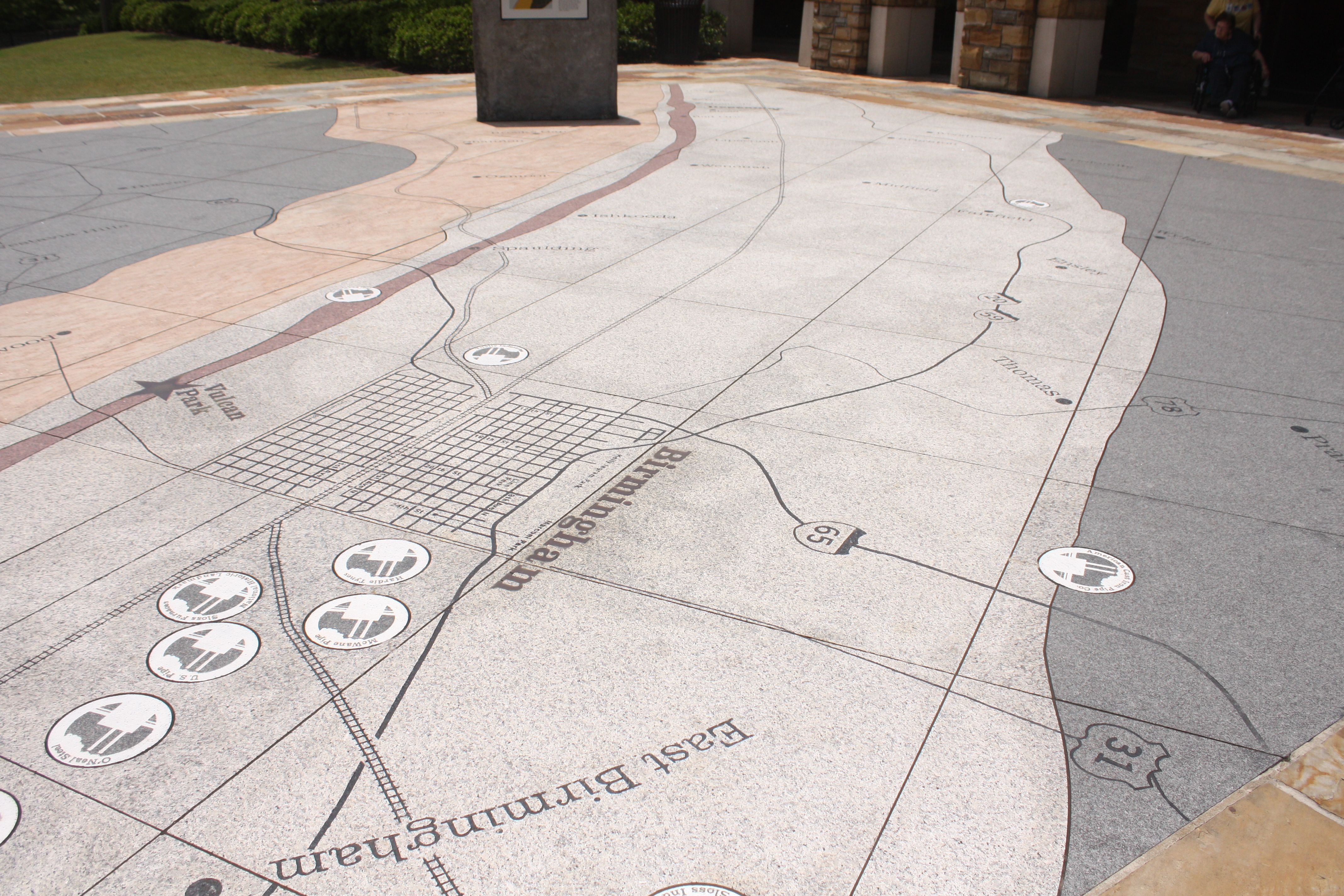 Red Mountain Birmingham Alabama C 2015michaelgould Environmental Design Paving Pattern Exhibition Design
