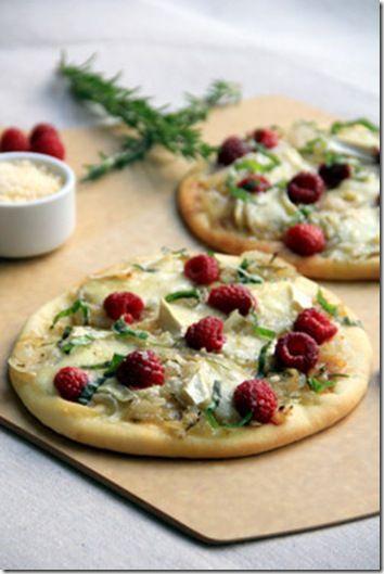 Raspberry & Brie Flat bread.