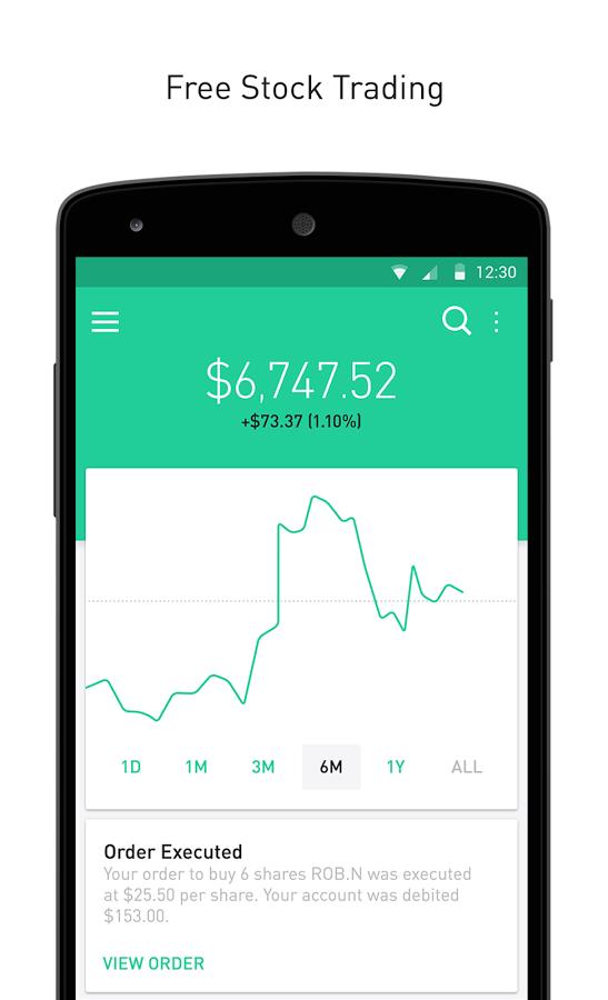 Robinhood screenshot Free stock trading, Stock trading