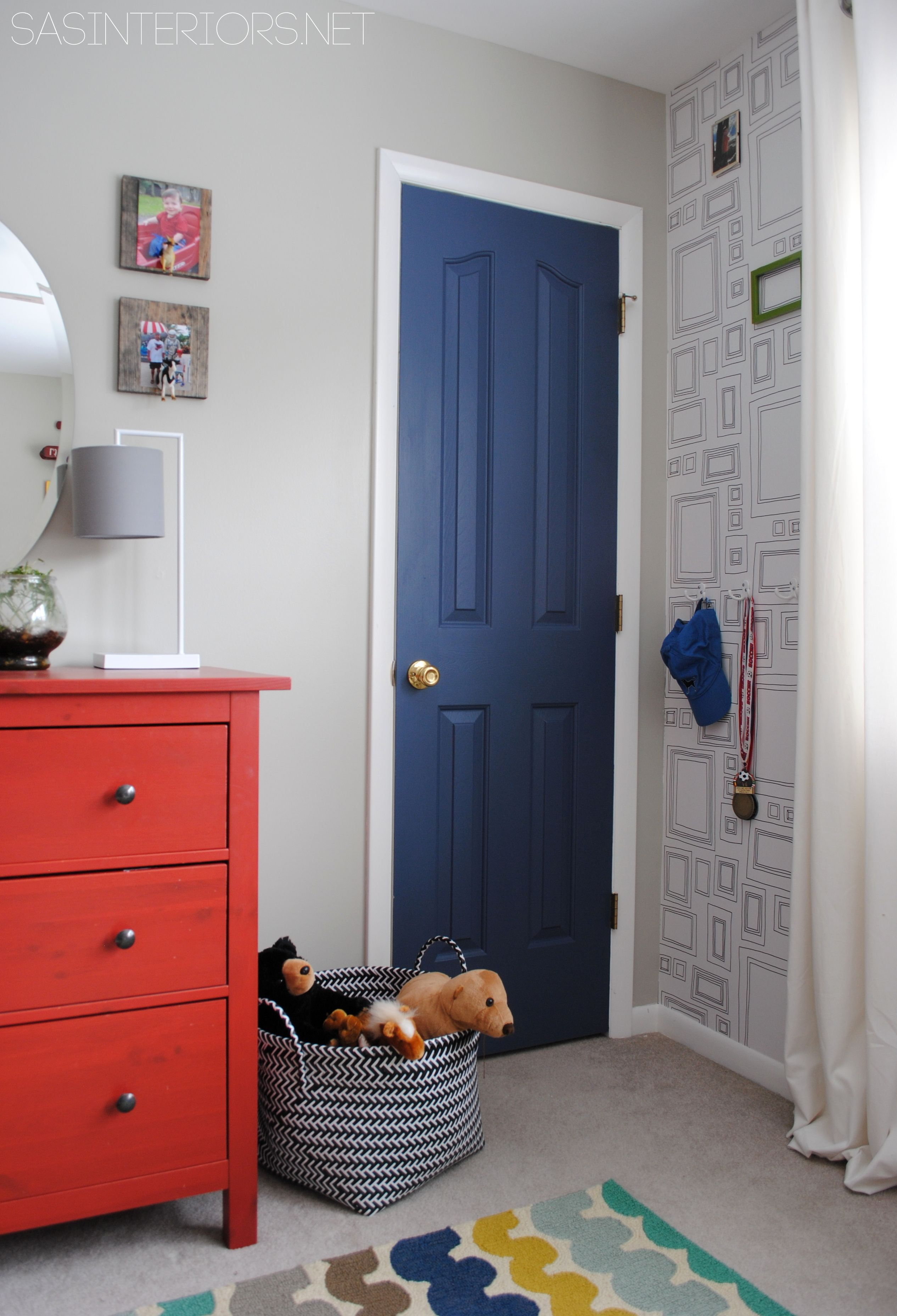 Boy Bedroom give it a splash of color with a deep blue