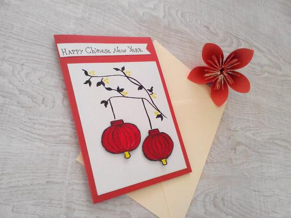 Chinese New Year 2020 Year Of The Rat Chinese New Year Etsy Chinese New Year Card New Year Card Happy Chinese New Year
