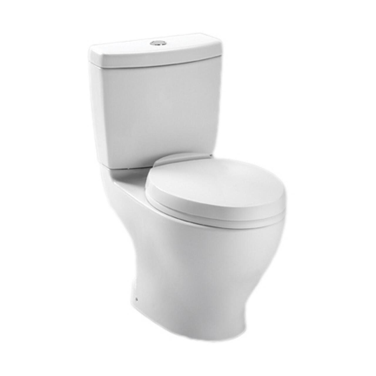 TOTO CST412MF#01 Aquia Dual Flush Elongated Two-Piece Toilet, 1.6GPF ...