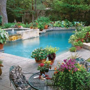 125 Container Gardening Ideas Pool Landscaping Backyard Pool Outdoor Gardens
