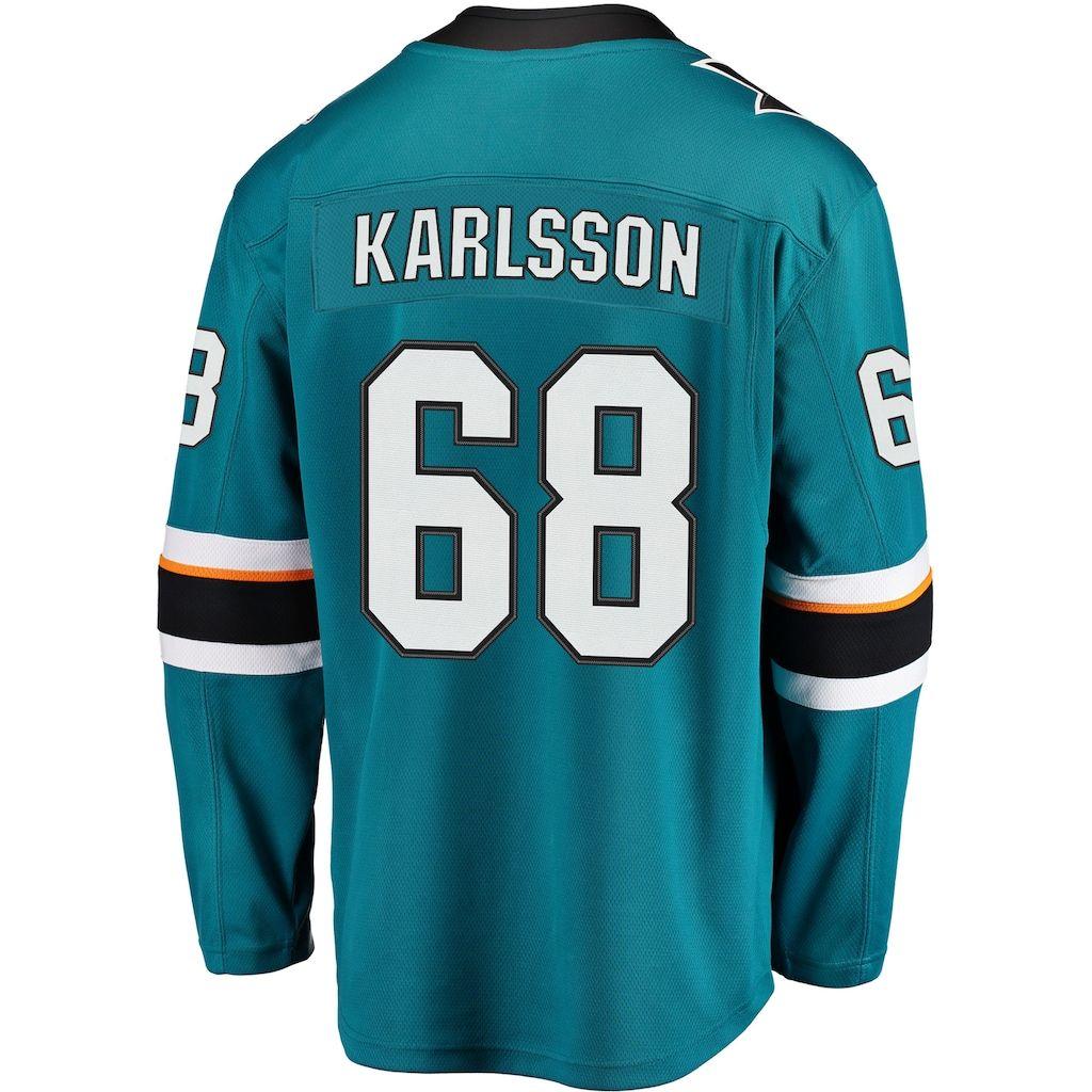 the latest bb5e6 0e200 Men's Fanatics San Jose Sharks Melker Karlsson Jersey, Size ...