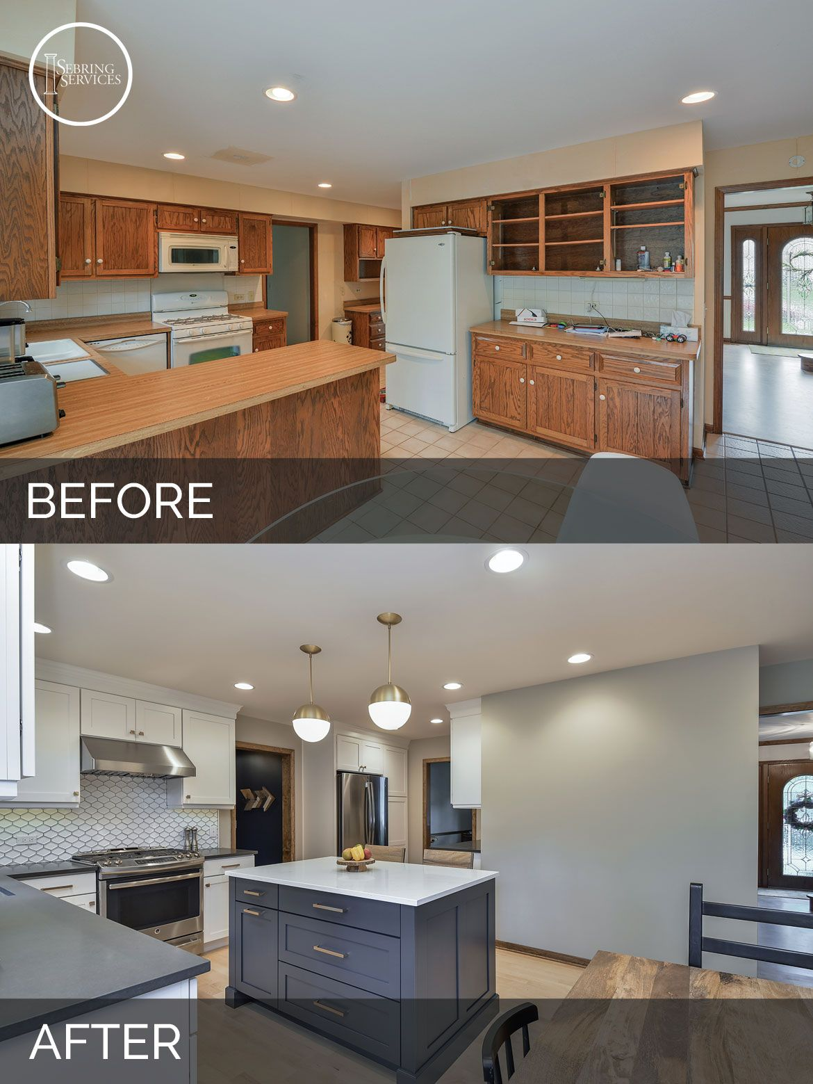 Justin & Carina\'s Kitchen Before & After Pictures | Remodeling ...