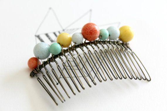Peineta color brillante, accesorio para el pelo moderno, peine de Popcolor