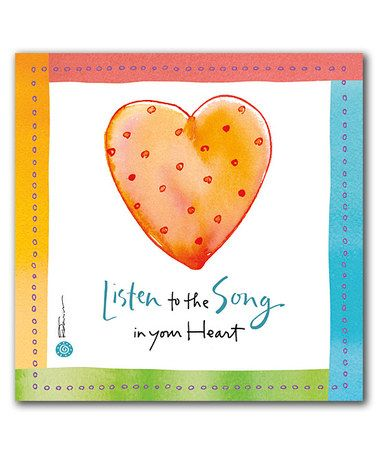 Love this 'Listen to the Song' Wrapped Canvas on #zulily! #zulilyfinds