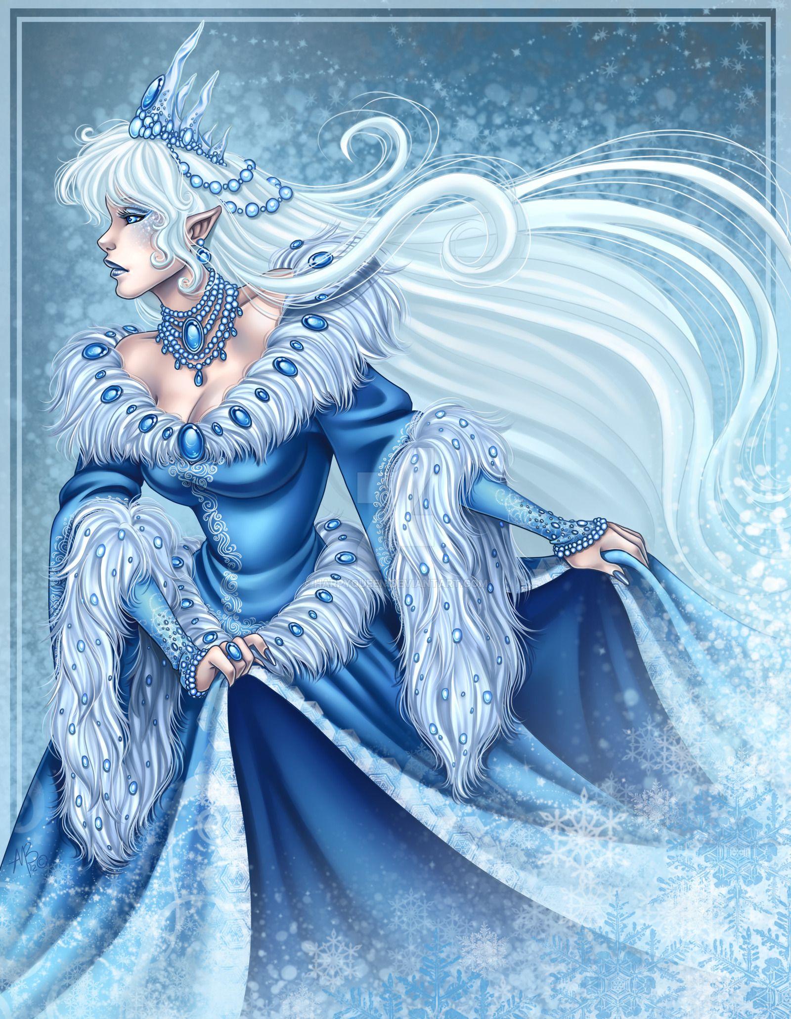 Snow Queen Elf of Winter Snow queen, Deviantart fantasy