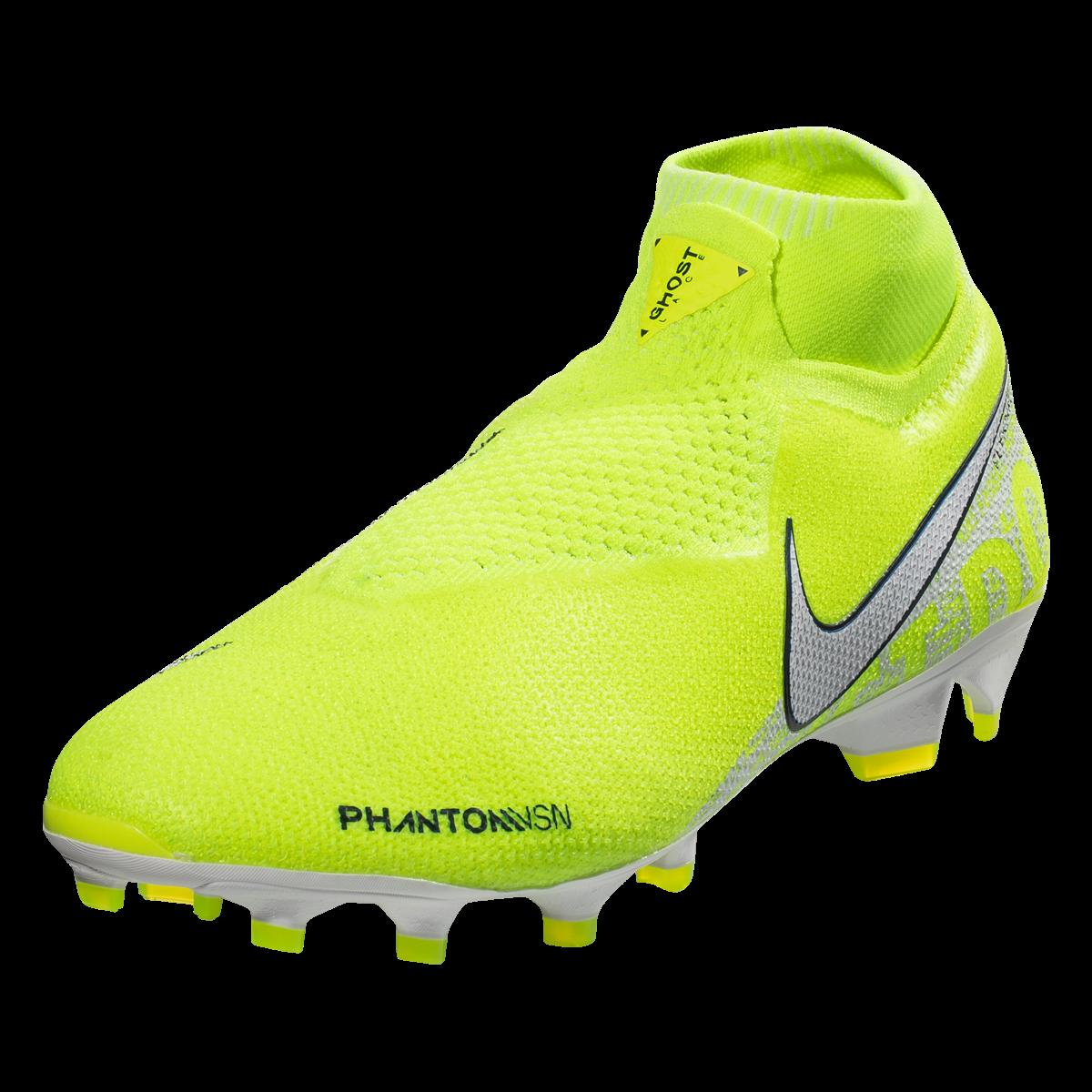 Nike Phantom Vision Elite Df Fg Firm Ground Soccer Cleat Volt White Obsidian 6 5 In 2020 Soccer Cleats Phantom Vision Nike