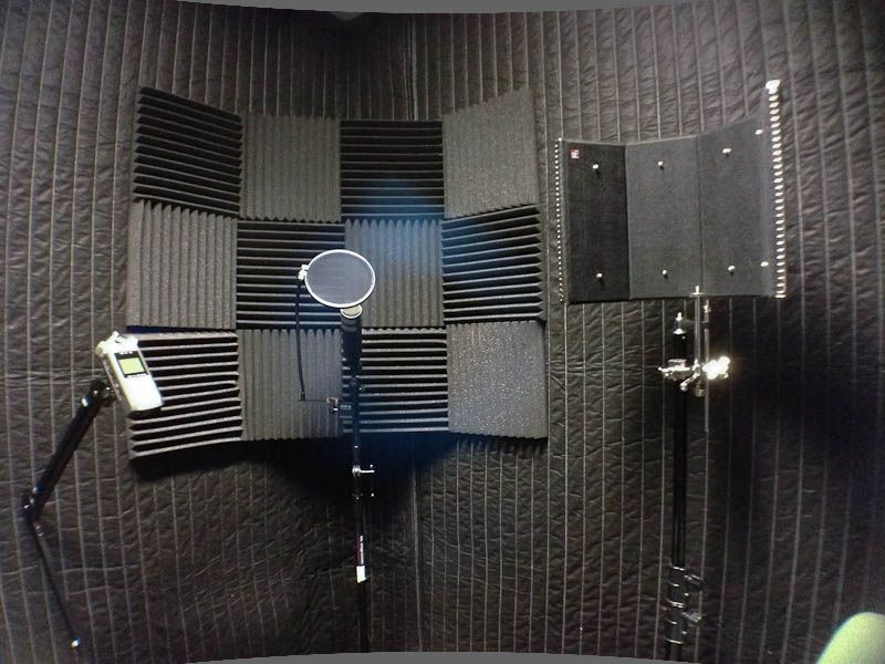 Sound Absorption for Voice Recording Room Sound room