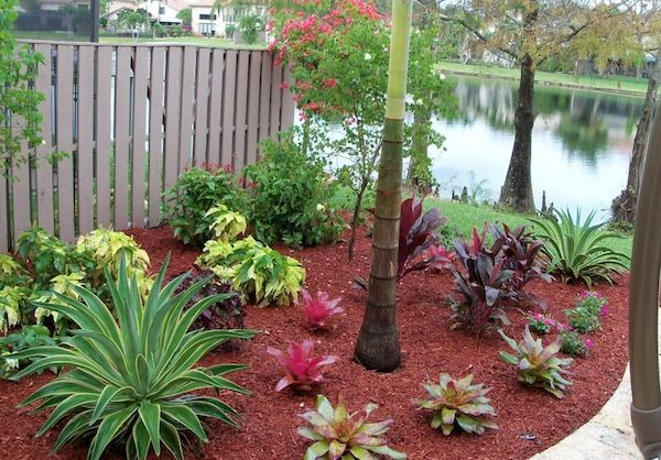 Adding Life To Your Outdoor Home With Colored Mulch Tropical