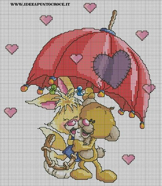 Schemi diddl idee a punto croce cross stitch punto for Idee punto croce bimbi