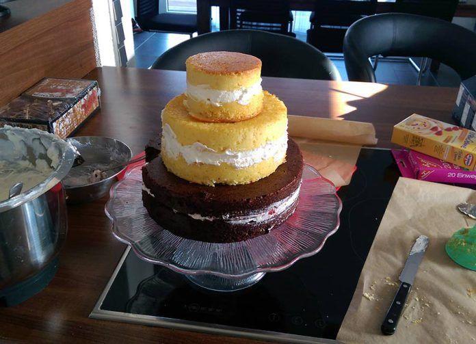 3 Stockige Torte Mit Buttercreme Selber Machen Fur Anfanger Backen