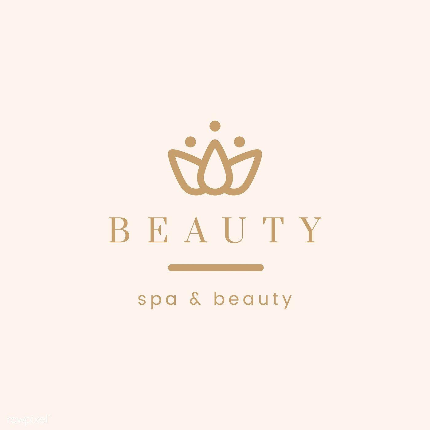 Beauty And Spa Logo Vector Free Image By Rawpixel Com Ningzk V Spa Logo Spa Logo Design Vector Logo