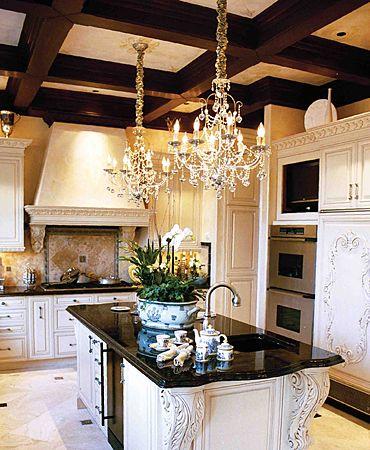 A Crystal Chandelier In Kitchen Love