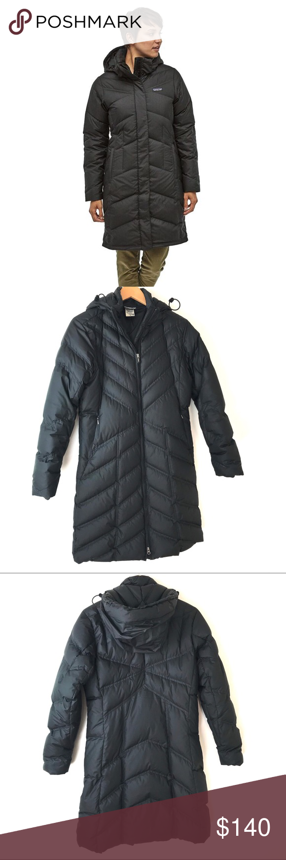 Patagonia With It down hooded long puffer jacket Puffer