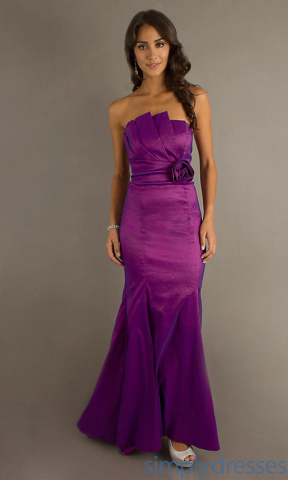 Long Strapless Prom Gown, Cheap Evening Gown - Simply Dresses | Prom ...