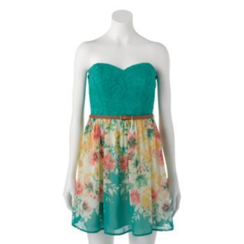 Dresses At Kohls Shop Our Entire Selection Of Juniors Dresses Including This Trixxi Floral Lace Tube Dress At Kohls
