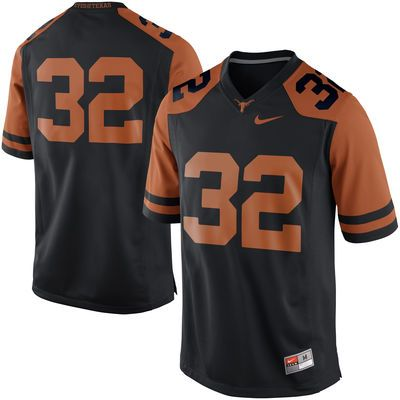 online retailer a370b 83d50 Nike Texas Longhorns #32 Game Football Jersey - Black ...
