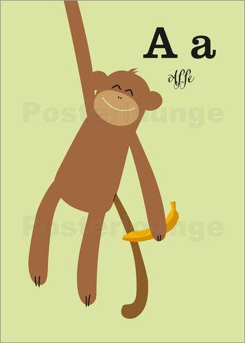 Poster Affe   Affen, Poster und Vorlagen