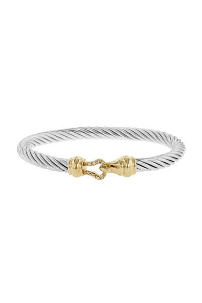 Classic Cable Bracelet in 14K and White Gold