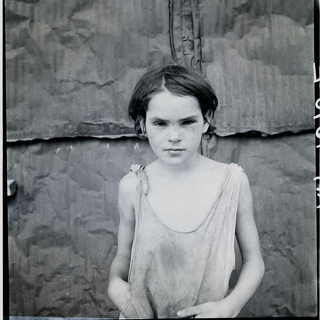 Child living in Oklahoma City shacktown. August, 1936. Dorothea Lange
