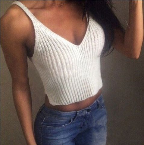 [ $15.00 ] SOLID COLOR SEXY KNIT TOPS   L718036