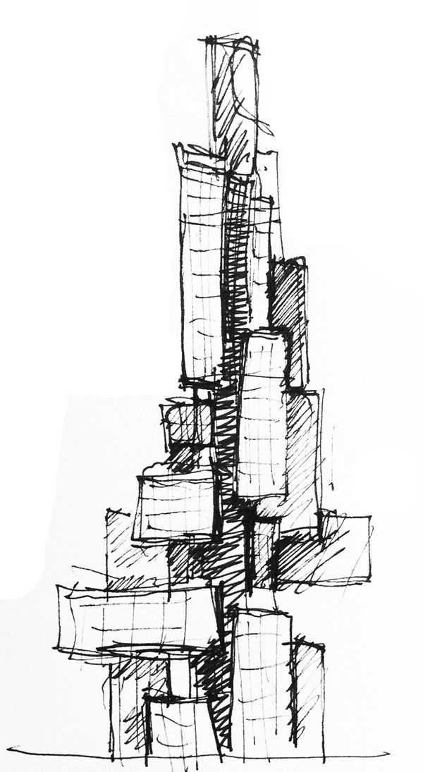 Architectural Sketches Part 1 On Behance Sketches Architecture