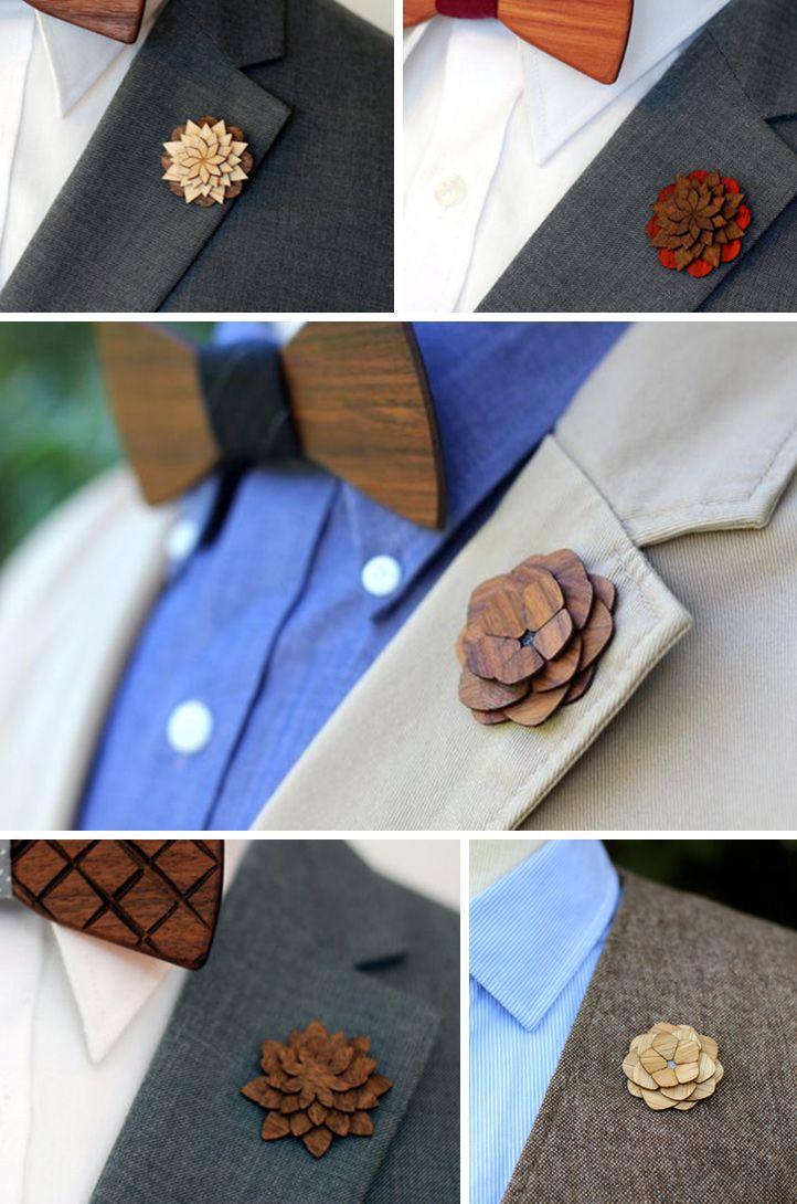 Blog Slubny Inspiracje Motywy Przewodnie Stylizacje Slubne Organizacja Wesela Drewniane Dodatki Dla Pana Mlodego Floral Floral Tie Fashion
