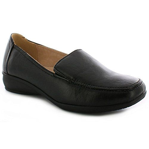 443e1c62d2fe78 DR KELLER WOMENS WIDE FIT SHOES LADIES WEDGE COMFORT CASUAL FORMAL WORK  LOAFER     Learn more by visiting the image link.