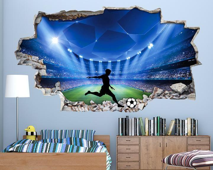 Football stadium boys bedroom decal vinyl wall sticker