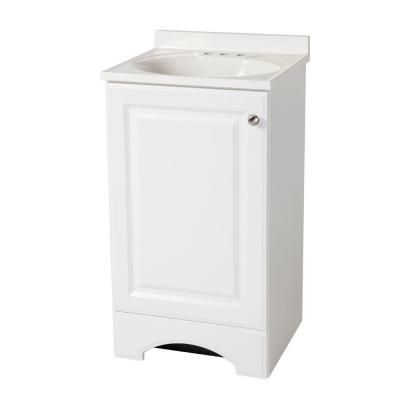 18 1 2 In W Vanity In White With Cultured Marble Vanity Top In White Marble Vanity Tops Cultured Marble Vanity Top Home Depot Bathroom Vanity 18 wide bathroom vanity