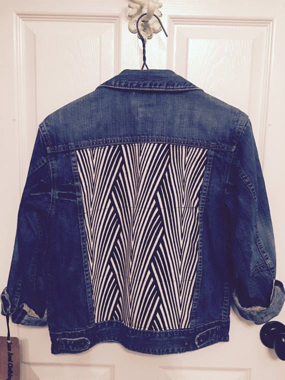 b6472182e65 Denim jacket African fabric African print blue by SaveSoulClothing ...