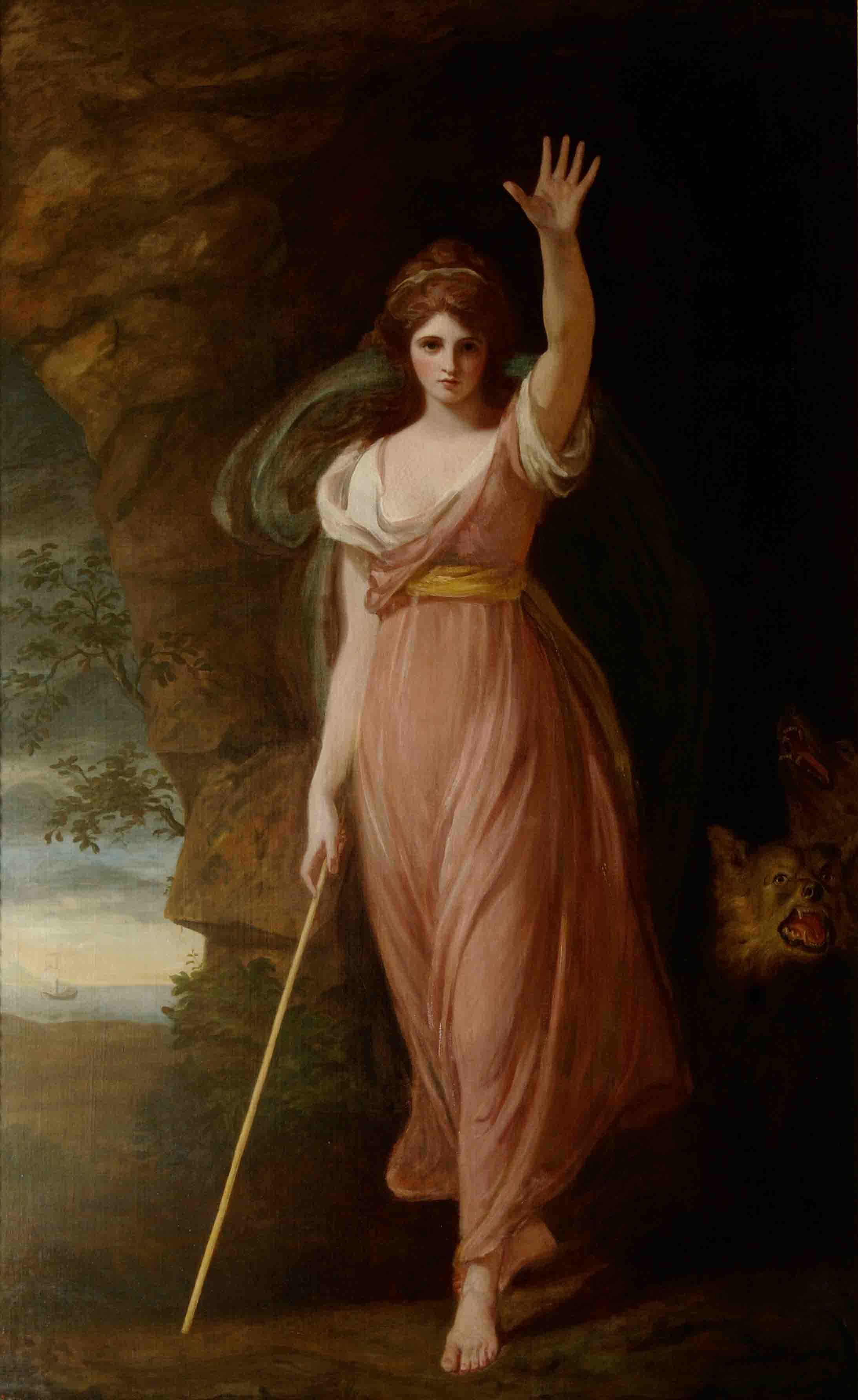 Emma as Circe, 1782, by George Romney © The National Trust