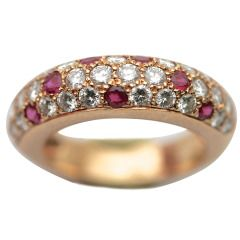 CARTIER Ruby star ring