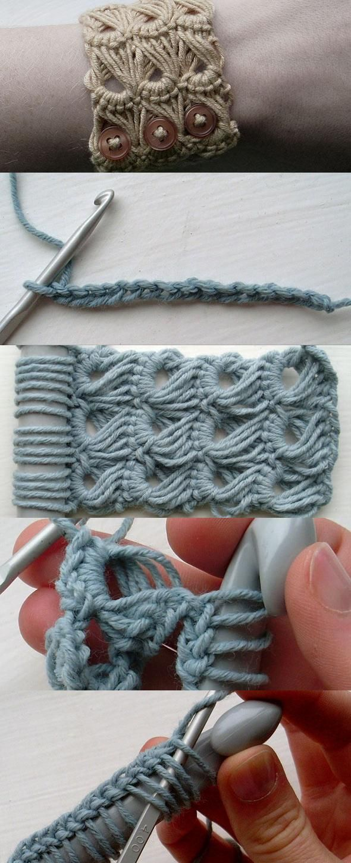 Broomstick Lace Bracelet | Ropa informal | Pinterest | Häkeln ...