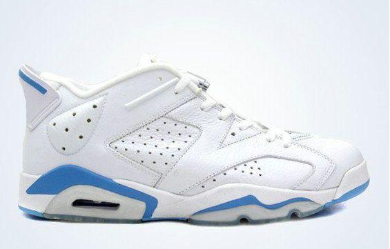 30c3e817a30 Youth Big Boys Air Jordan 6 Low White University Blue 304401 141 ...