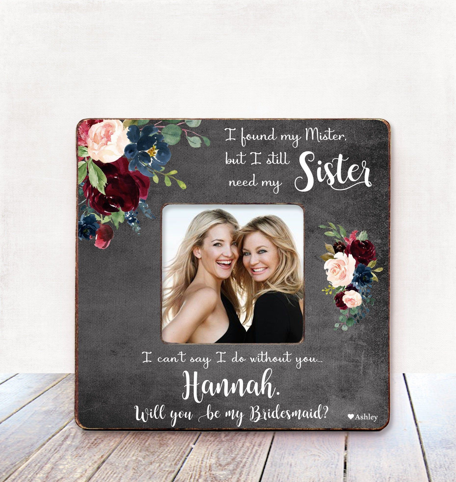 Flower Girl Proposal Maid of Honor Picture Frame Bridesmaid Proposal Bridesmaid Picture Frame
