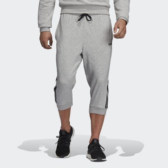 e1efacce590 Essentials 3-Stripes 3 4 Pants Heather Grey L Mens in 2019 ...