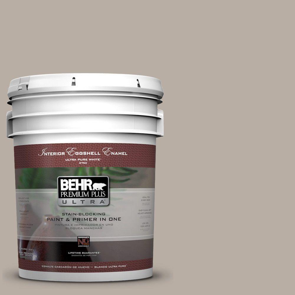 BEHR Premium Plus Ultra 5-gal. #N200-3 Nightingale Gray Eggshell Enamel Interior Paint