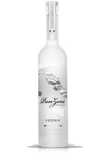 Ultra premium punzon vodka is uniquely crafted in a five for Italian cocktails with vodka