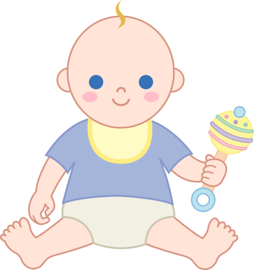 vintage baby illustrations clipart | Baby Boy With Rattle - Free ...