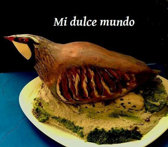 Tarta perdiz, bizcocho de chocolate relleno de nutela!! #perdiz