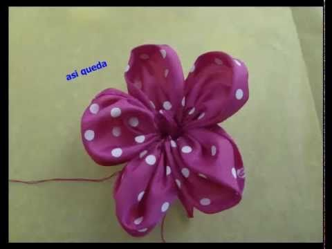 flor de liston para el cabello - YouTube