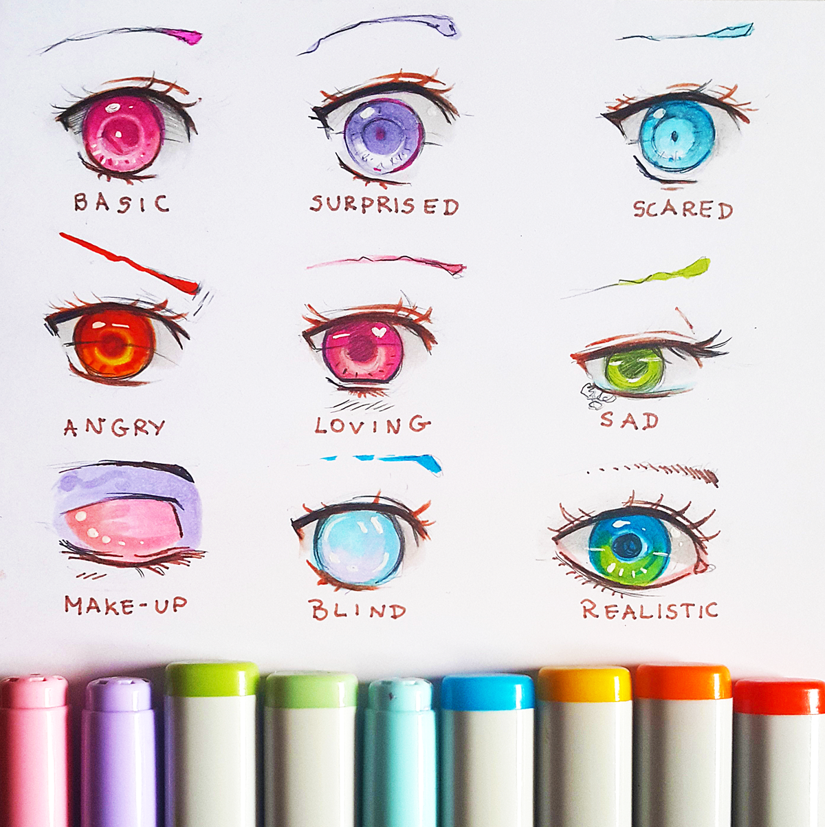 +Manga Eye Expressions 1+ by larienne Eye drawing, Manga